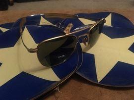 Vintage  American Optical Aviator sunglasses 12K 5 1/2