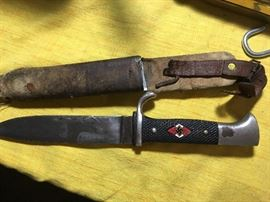 """Hitler Youth knife with motto """"Blood and Honor"""" 1938"""
