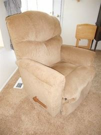 recliner in neutral color, clean