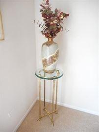 Brass & Glass plant stand