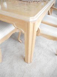Corinthian style table leg design