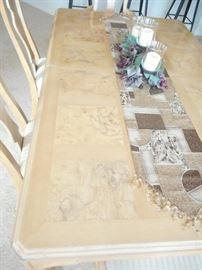Burled ash wood inlay