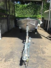 Gamefisher 3 Person Lake boat with trailer.