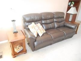 Leather Sofa, with reclining features