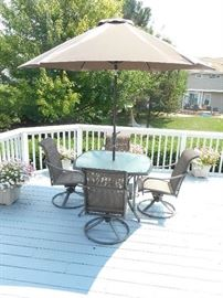 Martha Stewart patio set, and additional potted plants for sale