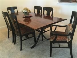 Arvada dining table with 6 chairs from Arhaus Furniture.  Purchased in 2015