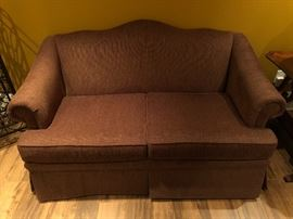 Broyhill Custom camel back loveseat