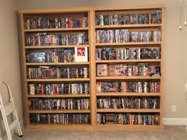 Old movies collection in cds and vhs
