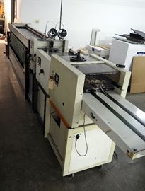 "Bourge Collators System Model A22, AGR Stitcher, PA Folder And TR Trimmer, 60"" H x 221""W x 23""D"