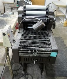 ABDICK Model 9810 Offset Duplicator, Astro AMC 2000 Envelope Feeder, Swing Away T51 Color Press