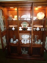 Milk glass etc