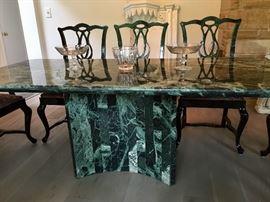 Roche Bobois granite top table