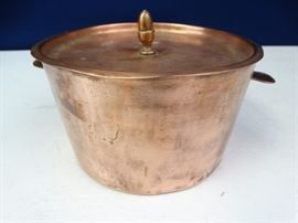 Copper Tone Pot with Lid