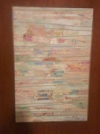Abstract oil on canvas by Lynn Applefield