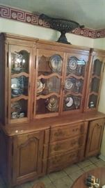 French Provincial dining room set  - China Cabinet 350