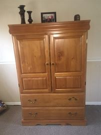 Armoire, pine wood- can be used for storage or entertainment center