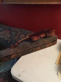 wood violin case