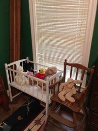 crib & high chair