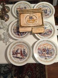 E'Spirit De Lafayette set 6 plates