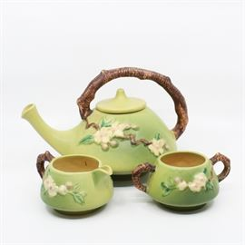 "Roseville ""Apple Blossom"" Tea Set - 371"