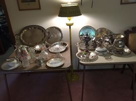 Lots of silverplate serving and decor items!