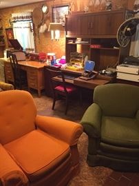 Chairs for the retro man cave.