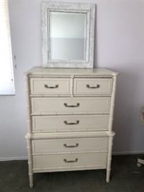 Highboy Chest with Asian flair in White