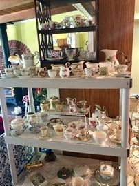 Tea Cups & Saucers, Cream & Sugars, Pitchers