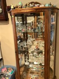 One of many curio cabinets
