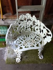White iron chair