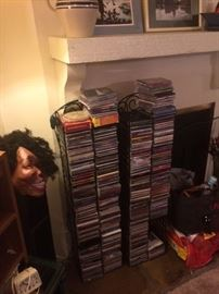 Lots and lots of music CDs
