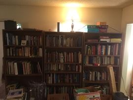 Books  vintage to current,  music, religion.  We got it here