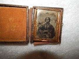Civil War Daguerreotype  and female Daguerreotype