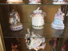 Lace porcelain dolls