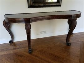 Large Curved Entry Table with Scrolled Legs92w x 28d x 34h
