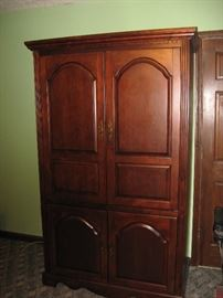 T V armoire  can also be used as clothes armoire by adding a couple of shelves.