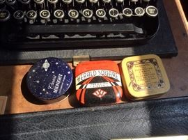 Typewriter ribbons in original tins