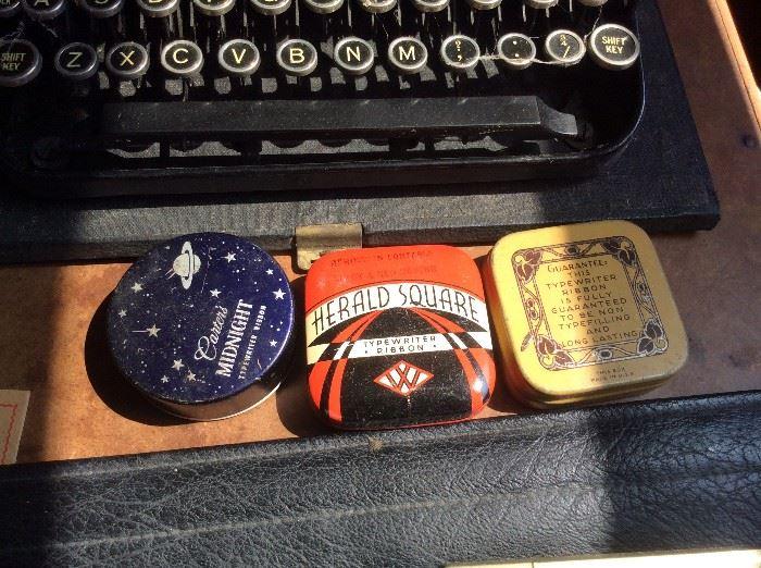 Typewriter ribbons in original tins