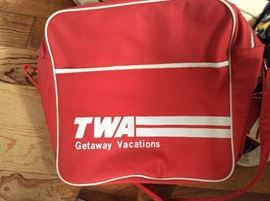 Vintage TWA travel bag