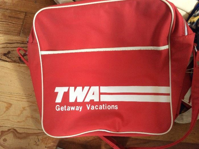 Vintage TWA travel bag