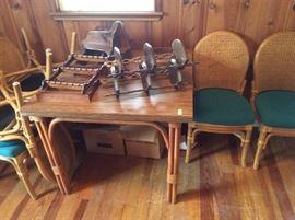dining room set, shelving