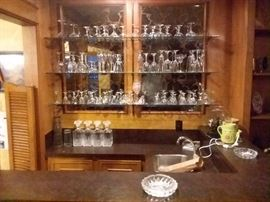 """Call 🏆Text  713-249-4777 to place your """"Silent Auction"""" bid and save the trip until you win this beautiful bar set of Crystal glass ware!"""
