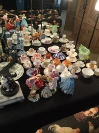 Great collection of demitasse sets.