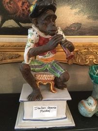 Detailed mid century Italian monkey on base.