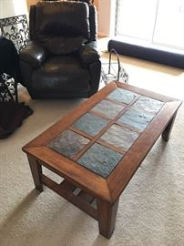 Lazy Boy Recliner, Coffee Table and Rugs