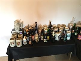 Vintage Beer Steins & Beer Bottles