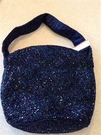 Vintage New York beaded bag.