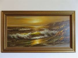 Vintage Seascape Signed F. Clayton