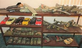 Large Collection Aircraft Model Planes, Cars, Army Tanks