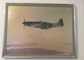 John Young Signed Aviation Canvas Art Print
